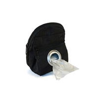 POOCH POUCH - BLACK Backpack Dispenser & Biodegradable Waste Pick-Up Bags