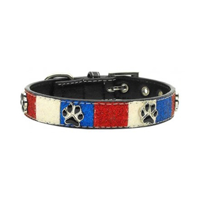Patriotic Ice Cream Paws Dog Collar