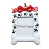 Paw Print Christmas Frame Ornament