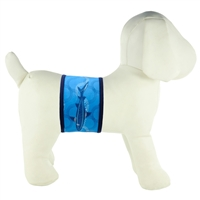 PlayaPup Dog Belly Band-Indigo Shark