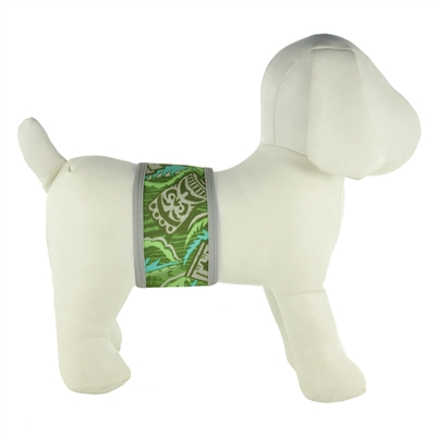 PlayaPup Dog Belly Band-Tiki Forest