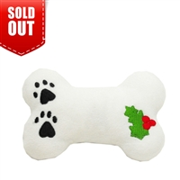 Plush Christmas Dog Toy-Holly Bone