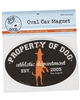 Property Of Dog Car Magnet