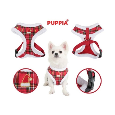 Puppia Santa Dog Harness A-Checkered