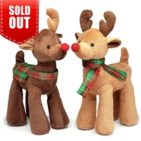 Radiant Tartan Reindeer Dog Toy