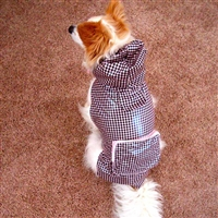 Rainy Day Dog Jacket-Pink Gingham