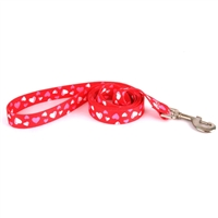 Red Hearts Dog Lead