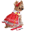 Red Polka Dot Balloon Harness Dress Dog Set