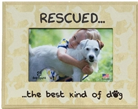"Rescued The Best Kind Of Dog 7""x9"" Picture Frame"