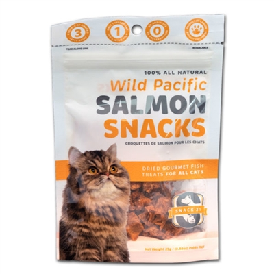 Snack 21 Wild Pacific Salmon Snacks for Cats