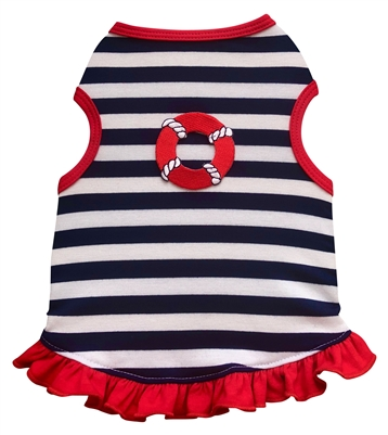 Sailor Stripe Dog Dress