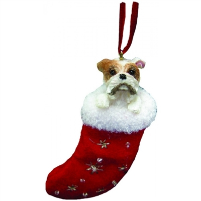 Santa's Little Pals Bulldog Ornament