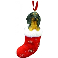 Santa's Little Pals Dachshund Black Ornament