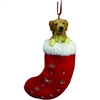 Santa's Little Pals Golden Retriever Ornament
