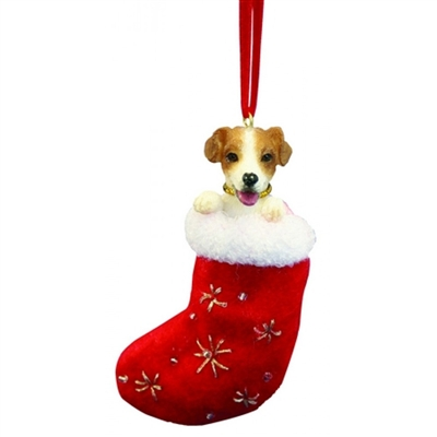 Santa's Little Pals Jack Russell Ornament