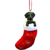 Santa's Little Pals Labrador Black Ornament