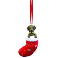 Santa's Little Pals Labrador Chocolate Ornament