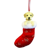 Santa's Little Pals Labrador Yellow Ornament