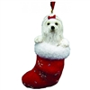 Santa's Little Pals Maltese Ornament