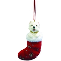 Santa's Little Pals Westie Ornament