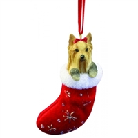 Santa's Little Pals Yorkie Ornament