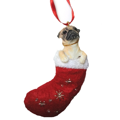 Santa's Little Pals Pug Ornament
