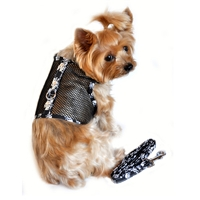 Skull Cool Mesh Dog Harness and Leash