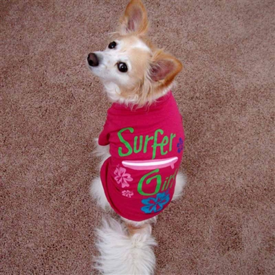 Surfer Girl Dog Tee