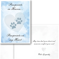 Sympathy-Paw Prints in Heaven