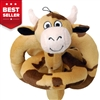 Talking Mini Brown Cow Dog Toy
