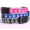 Two-Tone Pawprint Dog Collar