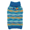 Zack & Zoey Elements Chunky Pompom Dog Sweater-Blue