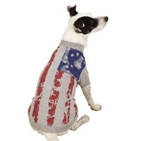 Zack & Zoey America's Pup Flag Dog Tee
