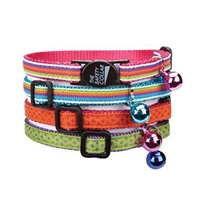 Savvy Tabby Decorative Ribbon Cat Collar