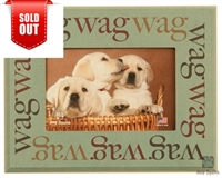 "Wag Wag Wag 7""x9"" Picture Frame"