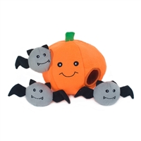Zippy Paws Halloween Burrow Dog Toy-Pumpkin