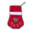 Zippy Paws Holiday Stocking - Red Paw