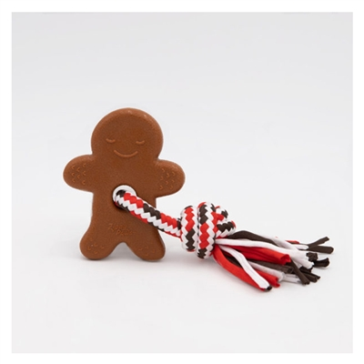 Holiday ZippyTuff Teetherz - Gingerbread Man Dog Toy