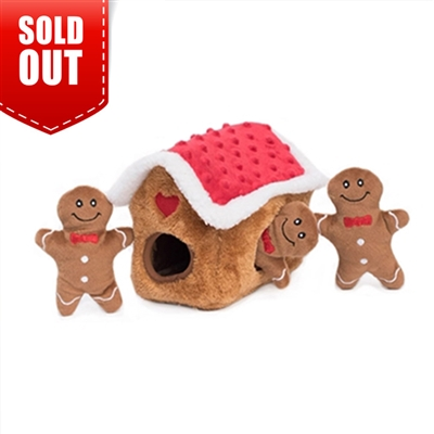 Zippy Paws Burrow Gingerbread House Dog Toy
