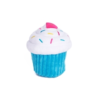 Zippy Paws Blue Cupcake Dog Toy
