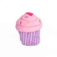 Zippy Paws Pink Cupcake Dog Toy