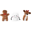 Zippy Paws Holiday Miniz 3-Pack Santa's Friends