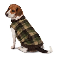 Zack & Zoey Berber Plaid Vest-Green