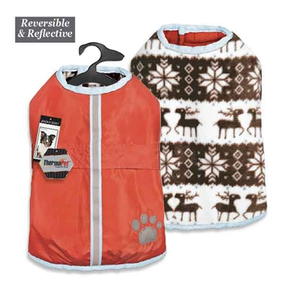 Zack & Zoey Forest Friends Reversible Thermal Nor'Easter Coat