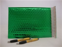 "100 13"" x 17.5"" green metallic bubble mailer"
