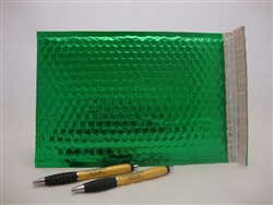 "50 13"" x 17.5"" green metallic bubble mailer"