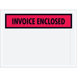 "4.5"" x 5.5 Panel Face Invoice Enclosed"