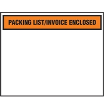 "Packing List Invoice Enclosed 4.5"" x 5.5"" 100 Pieces per Case"