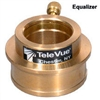 "TELEVUE EQUALIZER HI-HAT 2"" TO 1.25"" ADAPTER-BRASS"