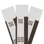 Black $25 Self Sealing Currency Straps (20 000/Case)